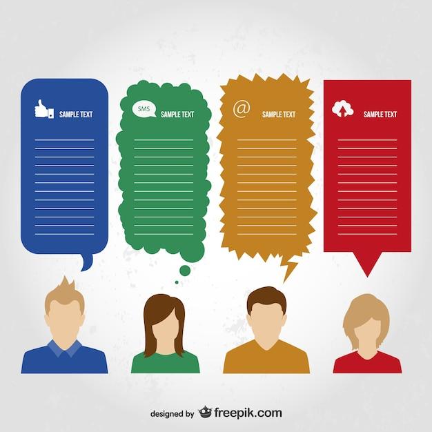 Informazioni di comunicazione disegno