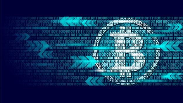 Informazioni flusso luminoso bitcoin blu incandescente finanza