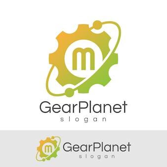 Ingegneria iniziale lettera m logo design