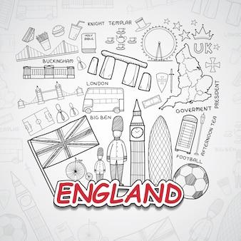Inghilterra collezione di elementi