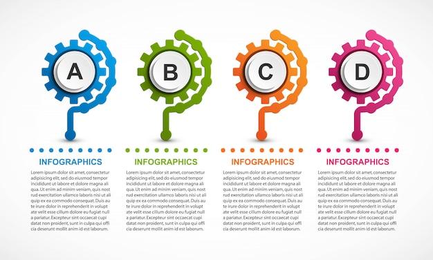 Ingranaggi astratti infografica