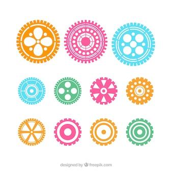 Ingranaggi icone di colore vector set