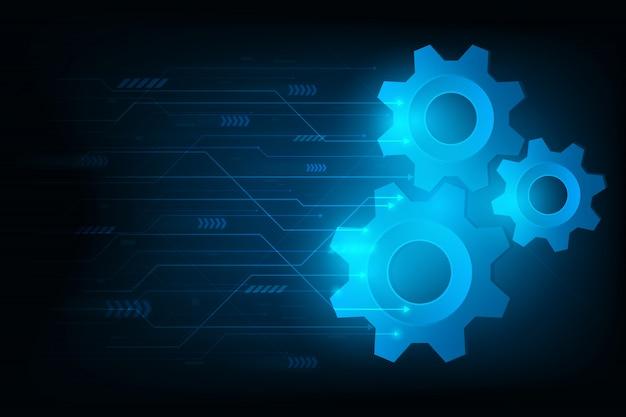 Ingranaggio futuristico del motore per il sistema per forward a future.vector e illustrazione