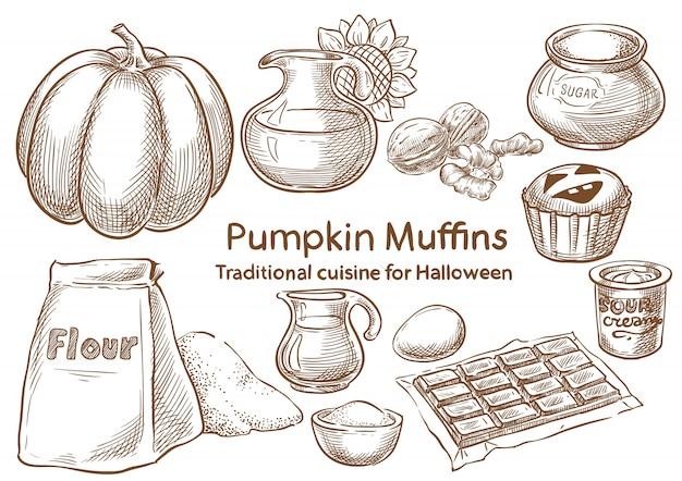 Ingredienti alimentari tradizionali di halloween