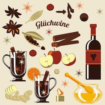 Ingredienti per vin brulè.
