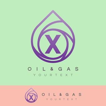 Iniziale di petrolio e gas lettera x logo design
