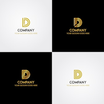Iniziale lettera d logo modello