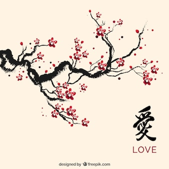 Ink cherry blossom