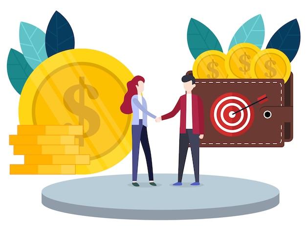 Innovazione di investimenti finanziari di concetto