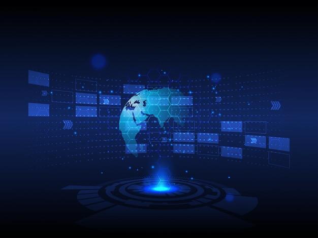 Innovazione digitale e globale di alta tecnologia astratta