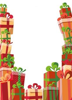 Inquadratura di scatole regalo