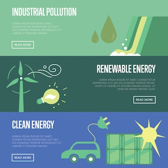 Inquinamento industriale. energia rinnovabile e pulita.