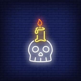 Insegna al neon candela candela