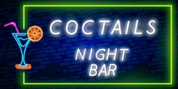 Insegna al neon cocktail