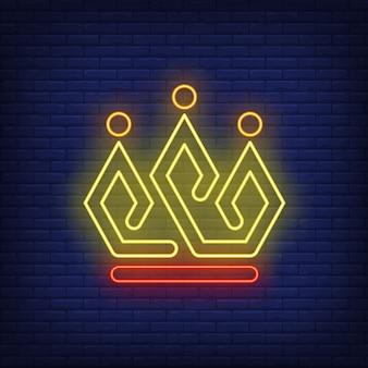 Insegna al neon corona luminosa