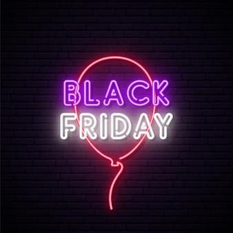 Insegna al neon del black friday.