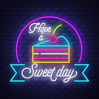 Insegna al neon del cibo dolce