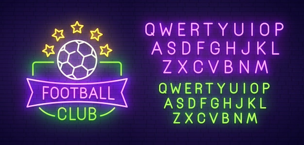 Insegna al neon del club di calcio