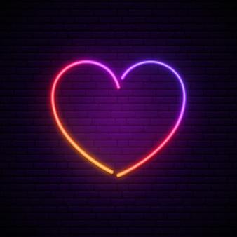 Insegna al neon del cuore.