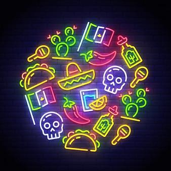 Insegna al neon del messico