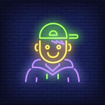 Insegna al neon del rapper