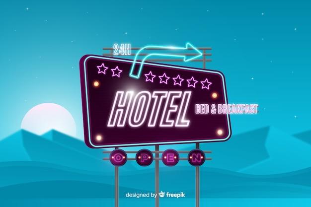Insegna al neon dell'hotel
