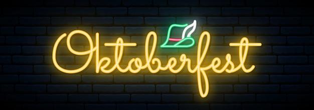 Insegna al neon dell'oktoberfest.