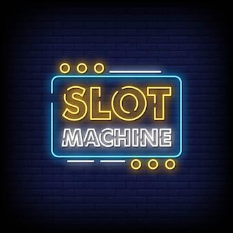 Insegna al neon delle slot machine