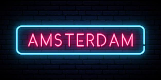 Insegna al neon di amsterdam