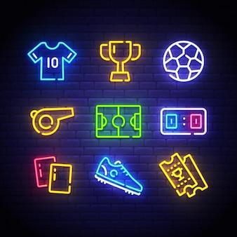 Insegna al neon di calcio