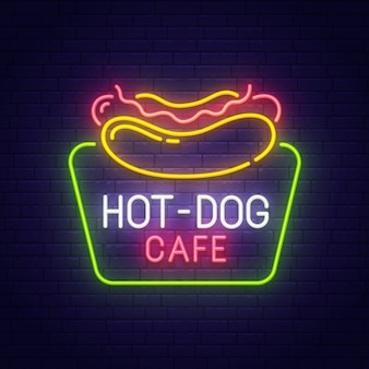 Insegna al neon di hot dog
