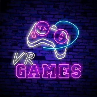 Insegna al neon di realtà virtuale