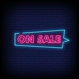 Insegna al neon di vendita