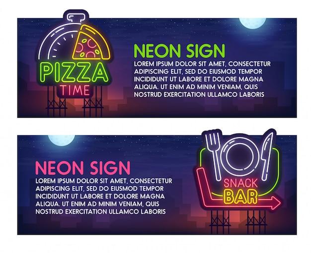 Insegna al neon fast food