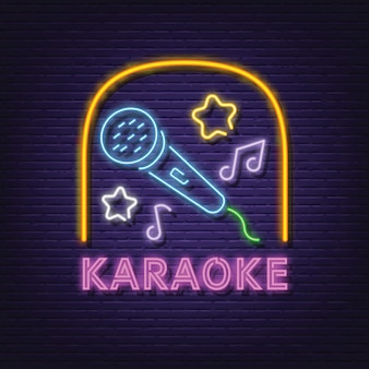 Insegna al neon karaoke