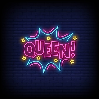 Insegna al neon regina