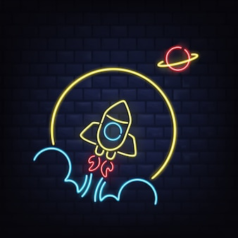 Insegna al neon retrò discoteca r
