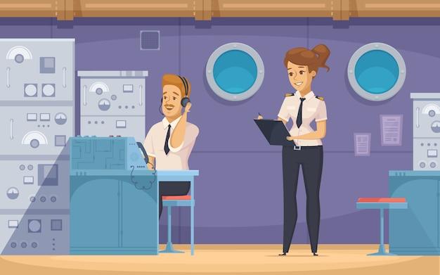 Insegna dei personaggi dei cartoni animati dell'equipaggio della nave