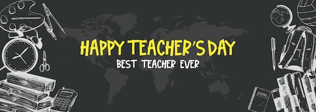 Insegna del giorno dell'insegnante felice