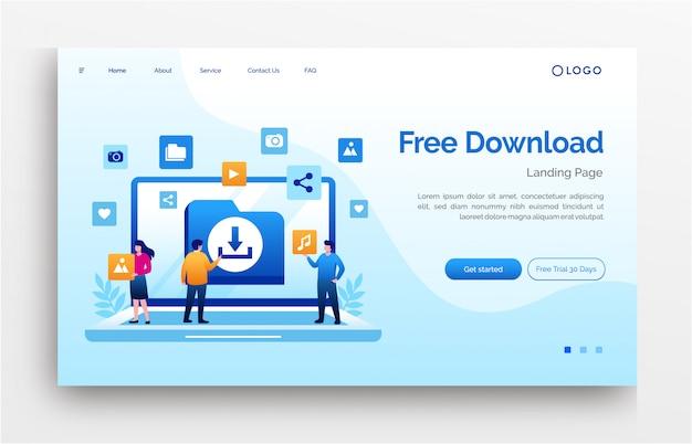 Insegna del modello del sito web della pagina di atterraggio di internet di download gratuito