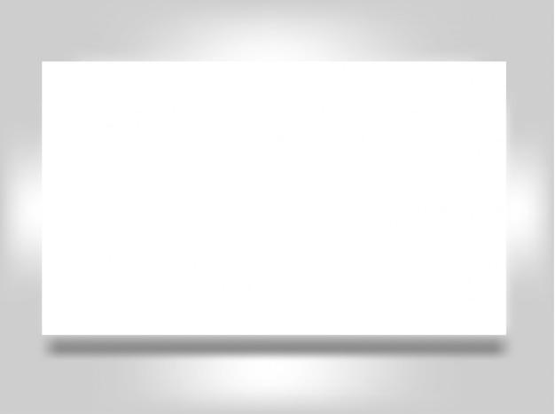 Insegna dell'aletta di filatoio o manifesto in bianco della cartolina postale isolato su gray per sostituire il vostro disegno