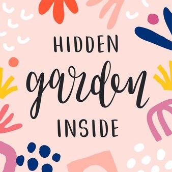 Insegna dell'insegna del giardino nascosto