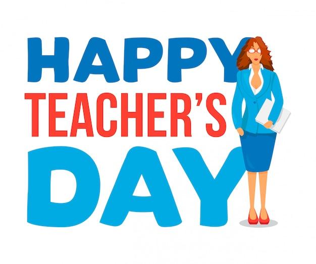 Insegna di celebrazione di happy teachers day
