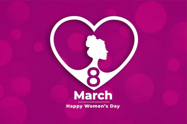 Insegna di evento del giorno delle donne creative nello stile del cuore