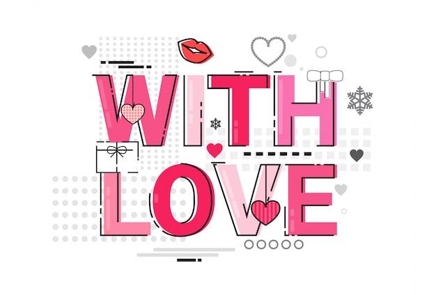 Insegna di forma del cuore di amore di festa della cartolina d'auguri del regalo di valentine day