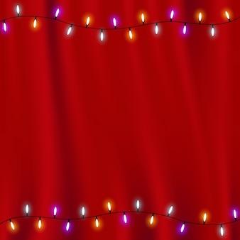 Insegna di giorno di buon natale con il vettore, stelle d'oro, backgro bianco blu rosso delle palle di natale