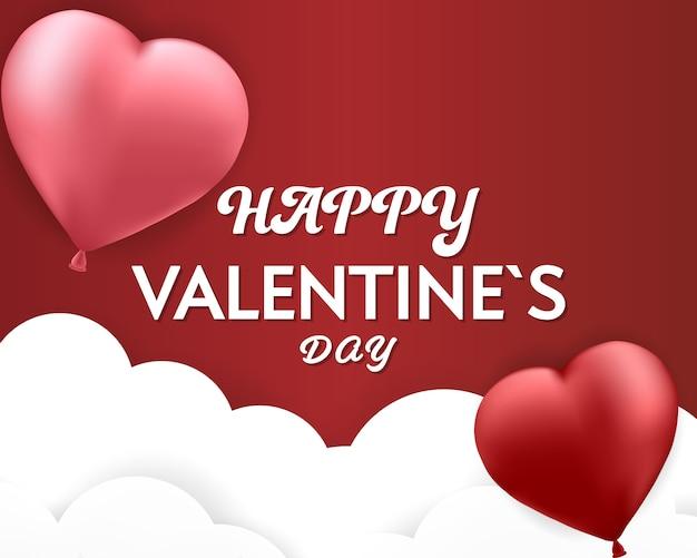 Insegna felice del fondo del cuore delle coppie di san valentino