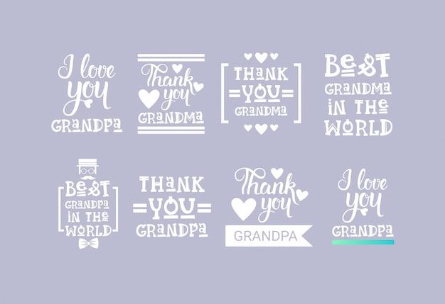Insegna felice della cartolina d'auguri di giorno dei nonni