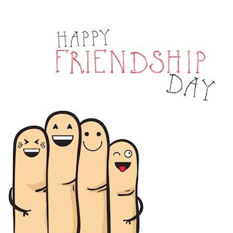 Insegna felice di festa degli amici della cartolina d'auguri di giorno di amicizia