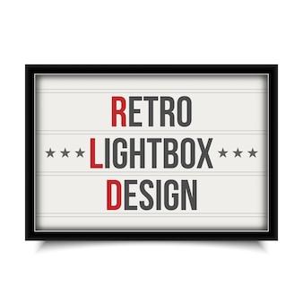 Insegna luminosa del cinema, teatro retro lightbox.
